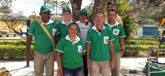 Equipe de epidemiologia em Conceição da Boa Vista.