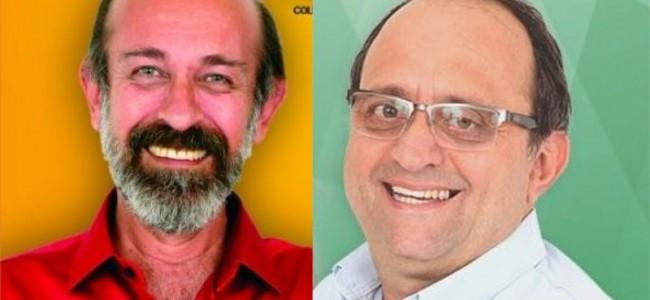 Candidatos a prefeito de Recreio, Zé Maria Barros e Oninho.