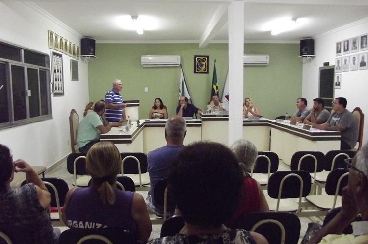 Sessão da Câmara de Recreio.
