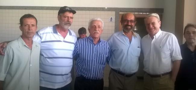Presidente da Câmara, vice-prefeito, Lael Varella (suplente de senador), prefeito e Márcio Lacerda (presidente da FNP).