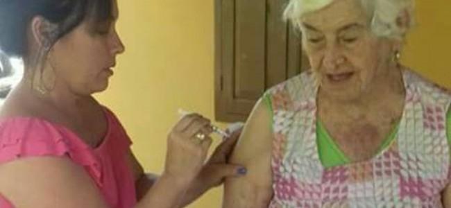 Vacinação contra a gripe na área rural de Recreio.
