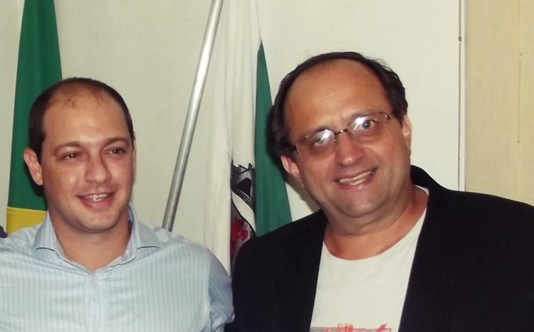 Renzo Braz e o ex-prefeito Ônio. Foto: Arquivo.