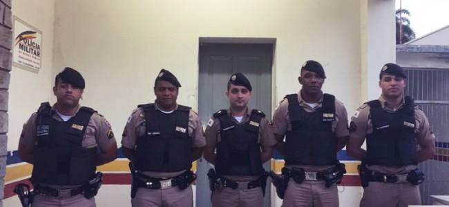 Militares que participaram da ação em Recreio.