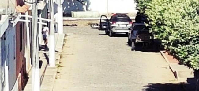 Rua Aragão, local onde houve a fuga do assaltante.