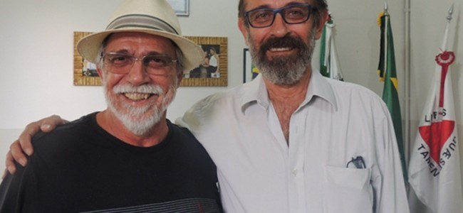 Pedro Dorigo e o prefeito Zé Maria Barros.