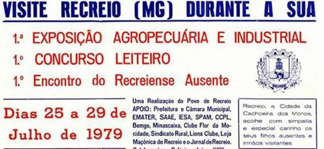 Recorte do cartaz da 1ª Exposição.