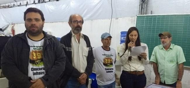 Secretário de Agricultura, prefeito, membro da comissão, veterinária e técnico da EMATER.