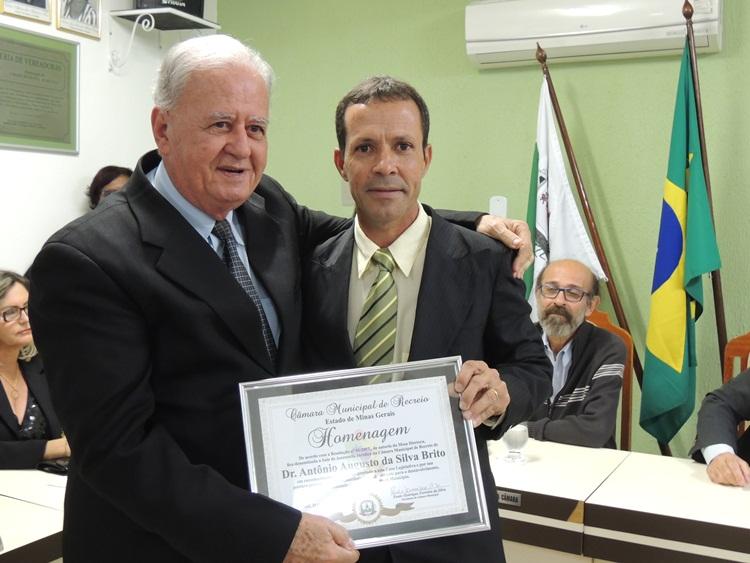 Dr. Antônio e o presidente da Câmara.