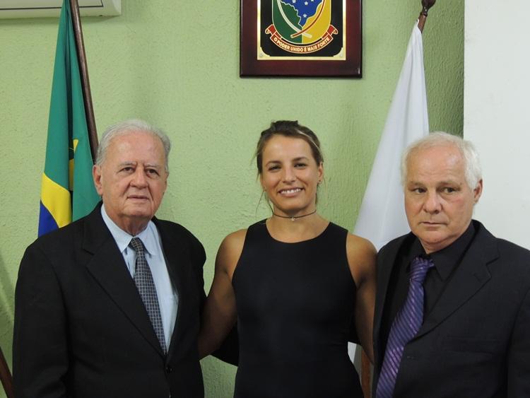 Dr. Antônio, Gabi e o vereador Chiquinho.