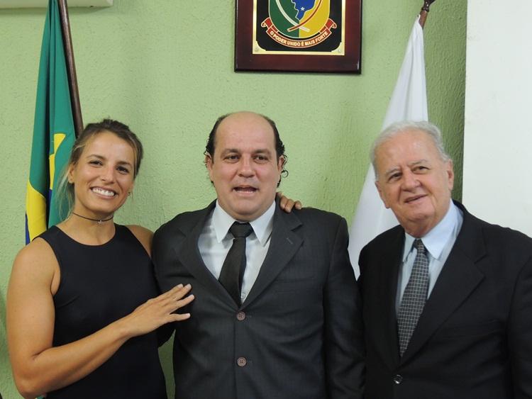 Gabi, vereador Jovane e Dr. Antônio.