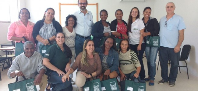 Participantes, prefeito de Recreio e presidente do Lar dos Velhos.