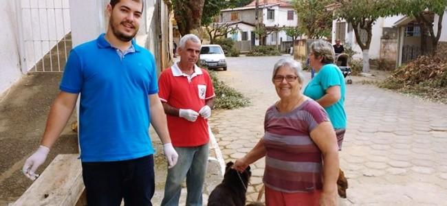 Vacinação antirrábica em Recreio.