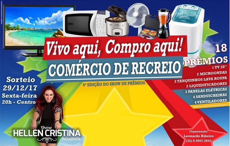 Vivo aqui, Compro aqui! 29/12 – 20h – Show: Hellen Cristina