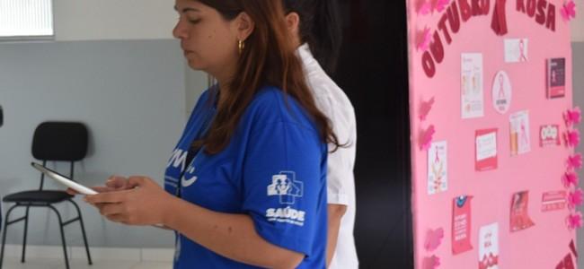 Avaliadora na UBS Dr. Samuel Siqueira de Oliveira.