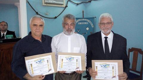 João Carlos, Pe. Edison e Marcelo Dias.